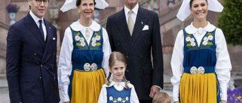 خانواده سلطنتی سوئد روز ملی این کشور را با لباس سنتی مراسم خوش حالی گرفتند